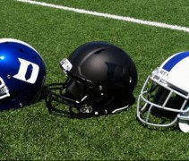 featured Duke Blue Devils New Helmets Black Matte Flat Blue 3