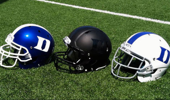Duke's New Helmets, One Reversed, the Other Blacked Out.