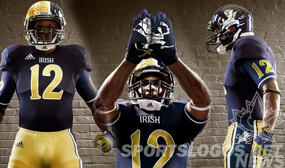 Notre Dame Abondons all Tradition, Shows a Gimmicky Shamrock Series Uniform for 2012