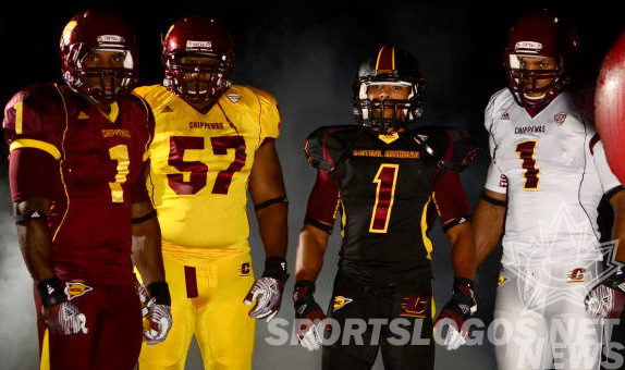 Central Michigan Goes With Mix-N-Match Colors in their New Uniforms