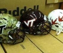 Virginia Tech Hokies White Helmet 3 types