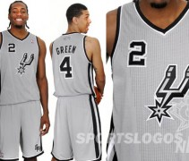 San Antonio Spurs NBA alternate uniform 2012 new design - feature