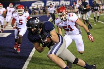 SportsLogos.Net Best/Worst 2012 college football NCAA best uniform - Utah State blue