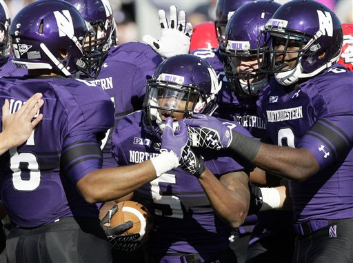 b83917600 SportsLogos.Net Best Worst 2012 college football NCAA best uniform -  Northwestern Purple
