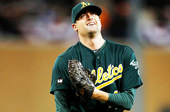 A's Honour Pitcher's Infant Son with Jersey Patch