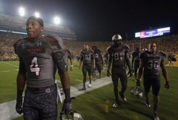 SportsLogos.Net Best/Worst 2012 college football NCAA worst uniform awards - South Carolina camo