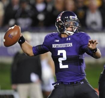 SportsLogos.Net Best/Worst 2012 college football NCAA best uniform - Northwestern purple black QB