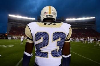 SportsLogos.Net Best/Worst 2012 college football NCAA worst uniform awards - Georgia Tech nameplate