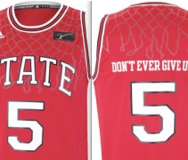 NC State Wolfpack Jim Valvano Jimmy V Classic jerseys uniforms special - both