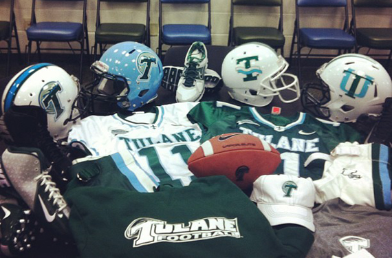 Tulane Introduces New Helmets for 2013