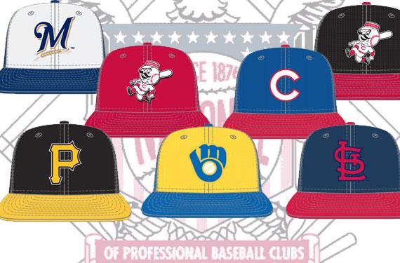 2013 NL Central Batting Practice Caps and Uniforms