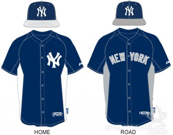 New York Yankees home and road BP uniforms for 2013