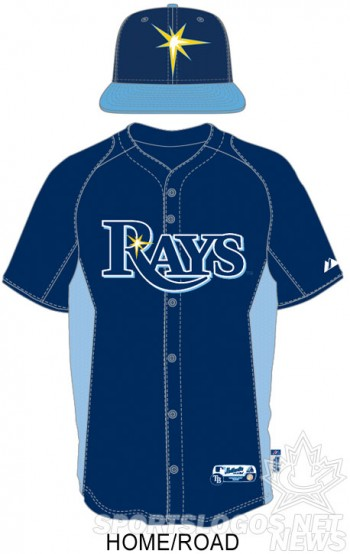 Tampa Bay Rays 2013 BP Uniform