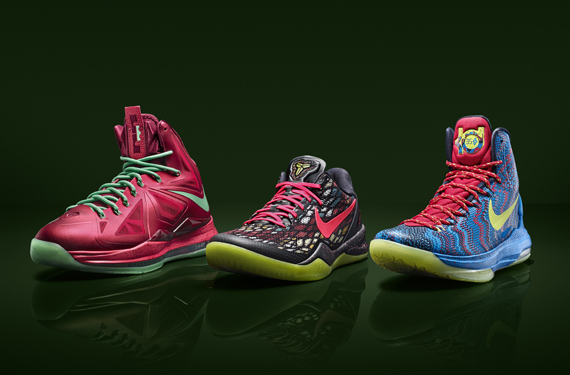 Nike Unveils New Christmas Colorways of Three Signature Shoes