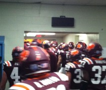 virginia tech bowl turkey helmets