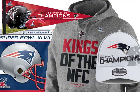 Falcons, Patriots Phantom Conference Champs Gear