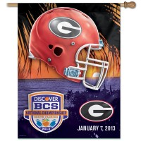 Georgia Bulldogs 2013 National Championship Game Flag