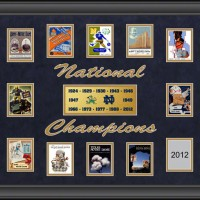 Notre Dame Fightin' Irish 2012 National Champions Frame