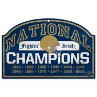 Notre Dame Fightin' Irish 2012 National Champions Sign
