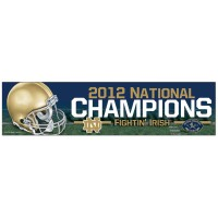 Notre Dame Fightin' Irish 2012 National Champions Bumper Sticker
