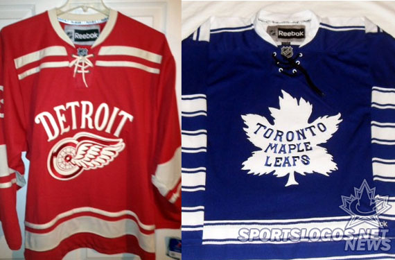 Red vs Blue at Winter Classic? Leafs, Wings Jerseys Spotted