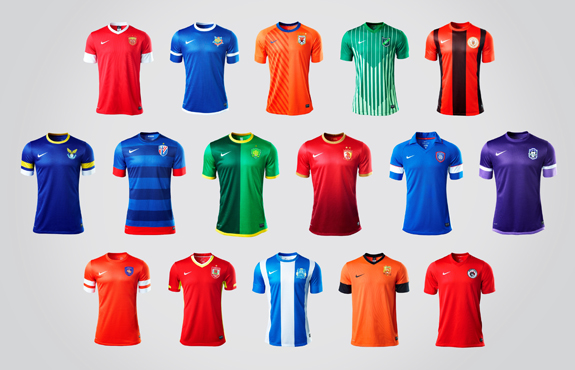 The 16 New Uniforms for Chinese Soccer