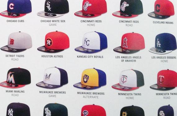 Photos of all 2013 MLB BP Caps
