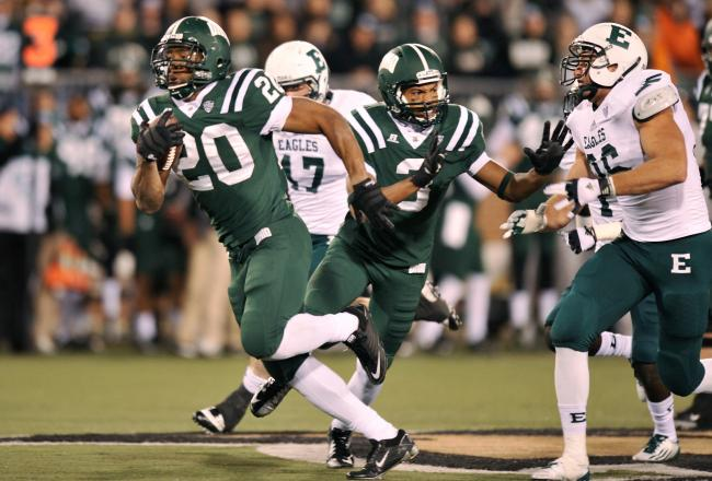 Ohio Bobcats green-on-green green NCAA Football Rules ...