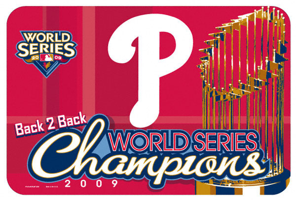 Philadelphia Phillies 2009 Phantom World Champions Merchandise