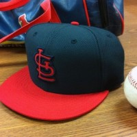 New St Louis Cardinals BP Cap, photo courtesy Derrick Goold