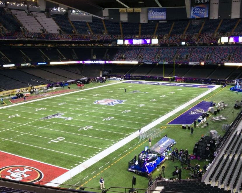 A Shot inside the SuperDome before Super Bowl XLVII