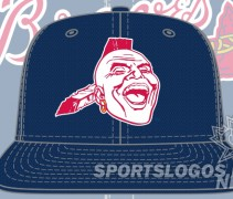 braves bp cap original