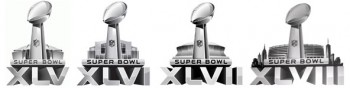 Super Bowl XLVIII is the first of the new standardized logo program to include a skyline