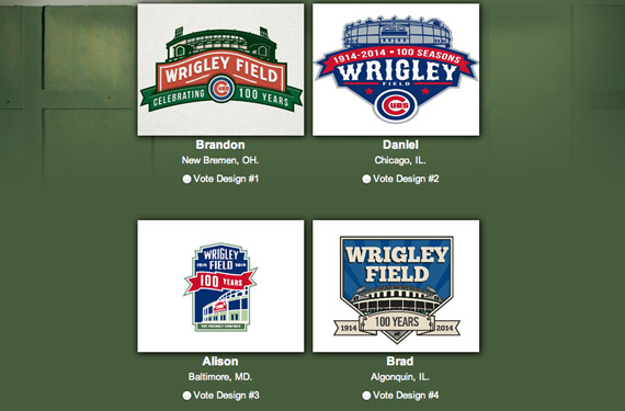 Four Finalists Chosen in Wrigley Field Logo Contest
