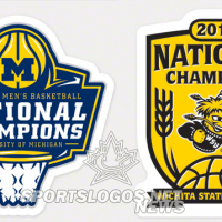 Michigan, Wichita State Championship Logos