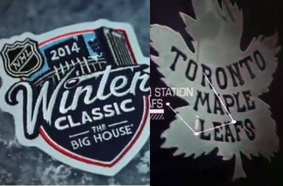 Leafs Jersey, 2014 Winter Classic Logo Leaked in Video