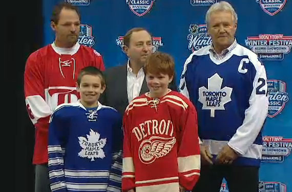 Leafs, Red Wings Unveil 2014 Winter Classic Jerseys