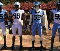 UNC Football Uniforms 2013