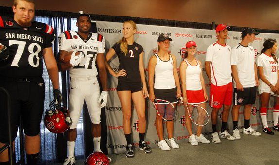 San Diego State University Shows Tweaked Logo, New Uniforms; Little Consistency