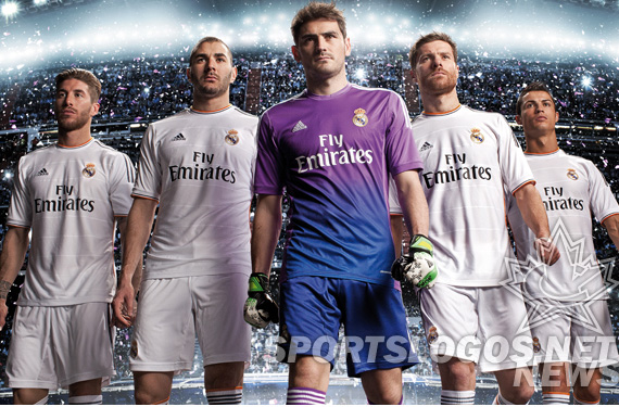 Real Madrid 2013/2014 Jerseys launched by adidas, with new color