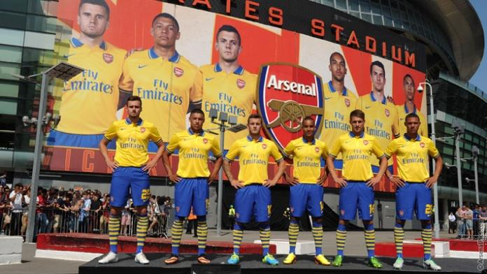 Arsenal Go Back To Yellow for their Away Kit