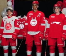 New Sault Ste Marie Greyhounds Uniforms 2013-14