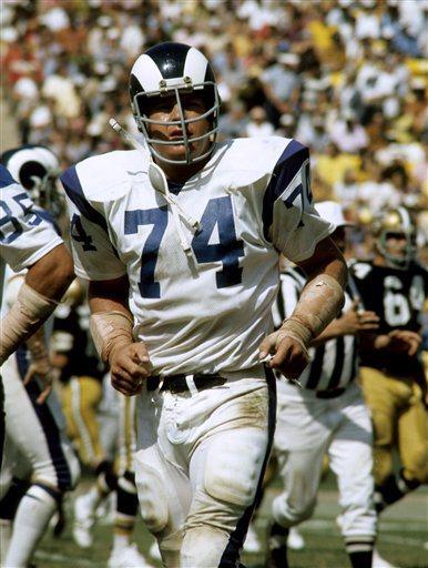 Rams Hall of Fame defensive tackle Merlin Olsen