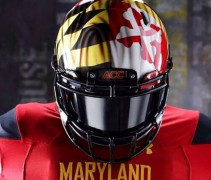 Maryland Terrapins Flag Helmet 2013