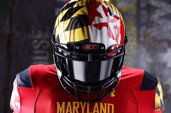 Maryland Terrapins Unveil Waving Flag Helmets