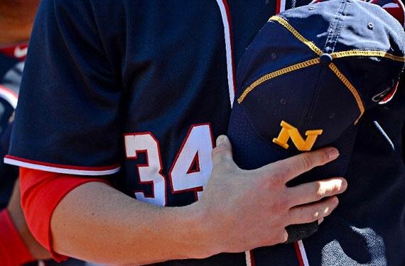 Washington Nationals Players Wear U.S. Navy Caps Today