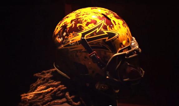ASU Unveils Crazy Helmet For ND Shamrock Series