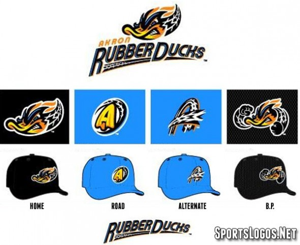 Akron Rubberducks Logos 2014