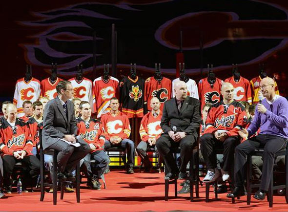 Calgary Flames Jersey History on Display