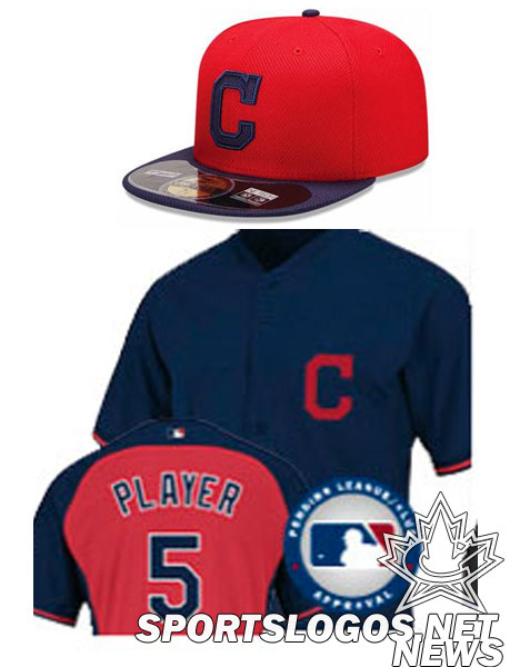 Cleveland Indians 2014 BP Uniform